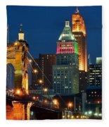 Cincinnati Close Up Fleece Blanket