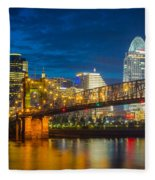 Cincinnati Downtown Fleece Blanket