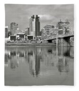 Cincinnati Monochrome Fleece Blanket