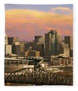 Cincinnati Over The Bridge Fleece Blanket