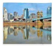 Cincinnati Reflects Fleece Blanket