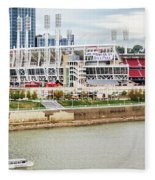 Cincinnati Riverfront 9870 Fleece Blanket