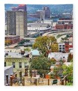 Cincinnati Rooftop 9965 Fleece Blanket