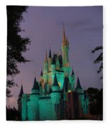 Cinderella Castle At Night  Fleece Blanket