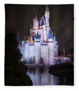 Cinderella's Castle Reflection Fleece Blanket