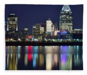 Cinicinnati At Dusk Fleece Blanket