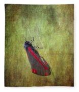 Cinnabar Moth Art Texture Wall Decor. Fleece Blanket