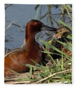 Cinnamon Teal Fleece Blanket