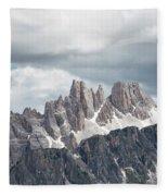 Cinque Torri Area In The Dolomites Fleece Blanket