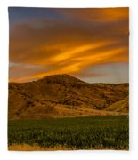 Circle Of Corn At Sunrise Fleece Blanket
