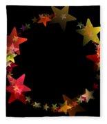Circle Of Stars Fleece Blanket