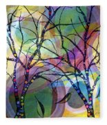 Circle Trees Fleece Blanket