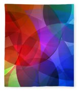 Circles In Colorful Abstract Fleece Blanket