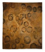 Circles Of Gold Fleece Blanket