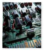 Circuit Board Fleece Blanket