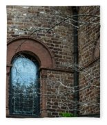 Circular Church Window Fleece Blanket