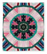 Circular Patchwork Art Fleece Blanket