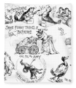 Circus Animals, 1888 Fleece Blanket