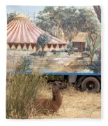 circus circus 2 - A vintage circus wagon with african paint and llama camel  Fleece Blanket