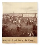 Circus Train Wreck, 1896 Fleece Blanket