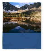Cirque Of The Towers In Lonesome Lake 2 Fleece Blanket