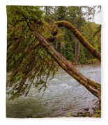 Cispus River At Iron Creek - Washington State Fleece Blanket