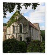Cistercian Abbey Of Fontenay Fleece Blanket