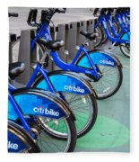 Citibike Rentals Nyc Fleece Blanket