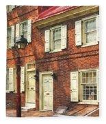 Cities - Philadelphia Brownstone Fleece Blanket