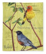 Citron Songbirds 2 Fleece Blanket