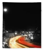 City And The Moon Fleece Blanket