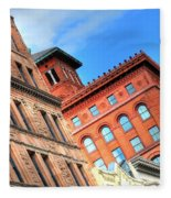 City Architecture Kcmo Fleece Blanket