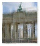 City-art Berlin Brandenburg Gate Fleece Blanket