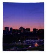City At The Edge Of Night Fleece Blanket