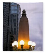 City At Twilight Fleece Blanket