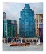 City - Baltimore Md - Harbor East  Fleece Blanket