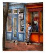 City - Baltimore Md - Waiting By Joe's Bike Shop  Fleece Blanket