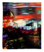 London City Cafe Culture Fleece Blanket