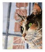 City Cat Fleece Blanket