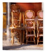 City - Chairs - Red Fleece Blanket