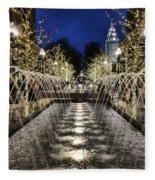 City Creek Fountain - 2 Fleece Blanket