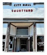 City Hall Courtyard Fleece Blanket