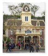 City Hall Main Street Disneyland Fleece Blanket