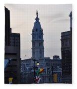 City Hall Philadelphia Fleece Blanket