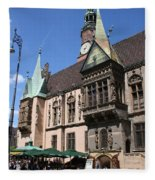 City Hall Wroclaw Fleece Blanket