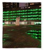 City Lights Urban Abstract Fleece Blanket
