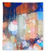 City Lights Urban Abstract Fleece Blanket