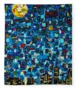 City Mosaic Fleece Blanket