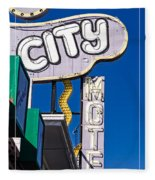 City Motel Las Vegas Fleece Blanket