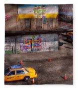 City - New York - Greenwich Village - Life's Color Fleece Blanket